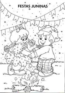 Desenhos De Festa Junina Para Pintar Baixe Gratis Escola De