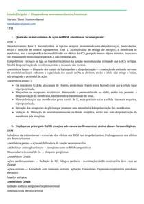 Estudo dirigido - BNM e anestésicos locais