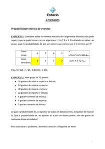 probabilidade e estatística aplicada à engenharia