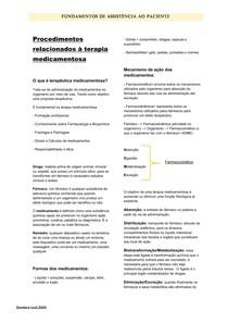 Procedimentos Relacionado a Terapia Medicamentosa - Fundamentos de Assistência ao Paciente