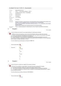 Avaliação On-Line 3 (AOL 3) - Questionário Correto