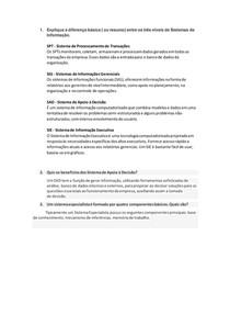 exercício sistema de Principio da Informação