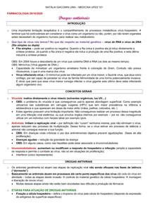 FARMACOLOGIA 29 ANTIVIRAIS anotações de aula