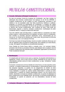 RESUMO MUTAÇÃO CONSTITUCIONAL