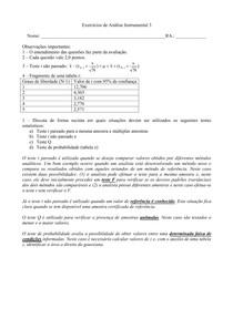 Analítica Instrumental + gabarito