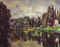 Paul Paul Cézanne - The Banks of the Marne at Creteil