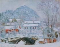 Sandviken Village In The Snow-Claude Monet