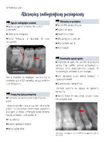 Alterações radiográficas periapicais
