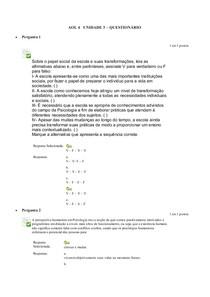 AOL 4 UNIDADE 3 QUESTIONÁRIO