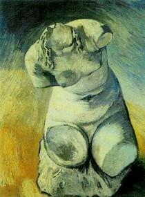 Vincent Willem van Gogh-Gesso Estatueta-de-um-Torso Feminino-front