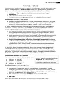 AULA 4 ANTIBIÓTICOS β LACTÂMICOS