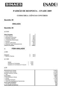 02_CIENCIAS_CONTABEIS - 2009 -GABARITO - PADRÃO DE RESPOSTAS - ENADE