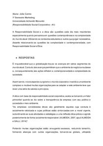A1 - Responsabilidade Social Corporativa - Júlia Carmo
