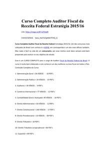 Curso Completo Auditor Fiscal da Receita Federal Estratégia 2015/16 (PDF com links)