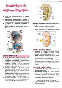 Embriologia do Sistema Digestório