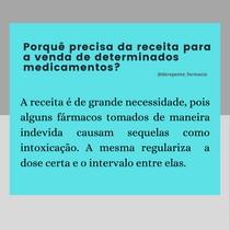 Porquê precisa da receita para a venda de determinados medicamentos?
