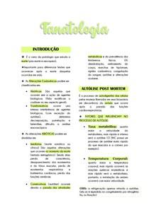 Tanatologia - alterações pós mortais