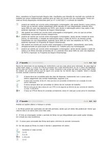 Direito Trabalho II -  Simulado AV1