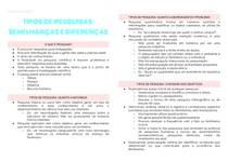 Tipos de pesquisas - semelhanças e diferenças