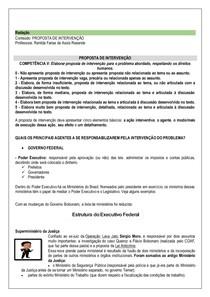 Proposta de intervenção - competência V ENEM