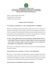 UNIDADE 3.1 - DIREITO ADMINISTRATIVO