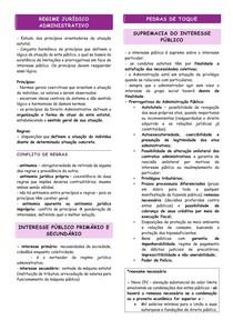 RESUMO - DIREITO ADMINISTRATIVO - 02 - REGIME JURÍDICO ADMINISTRATIVO