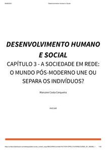 20211 - Desenvolvimento Humano e Social (ON)