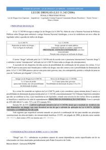 Lei de Drogas e Lei 9099 + Informativos STF STJ