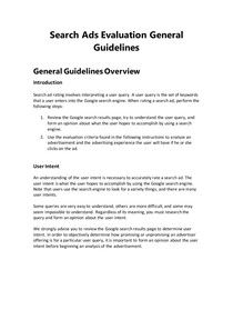 Search Ads Evaluation General Guidelines