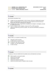 simulados processo civil 2