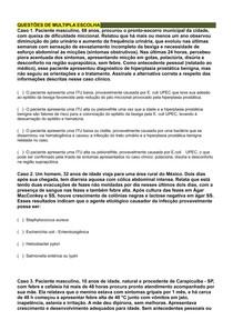 Infecções Bacterianas - 10 Questões (Casos Clínicos)