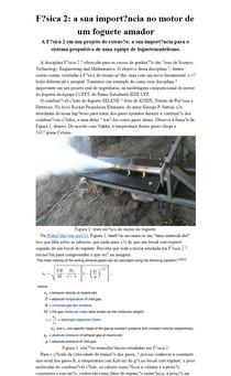 Física 2: a sua importância no motor de um foguete amador