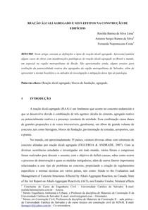 ARTIGO RAA - Reação Álcali-Agregado