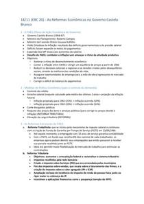 EBC20 - As Reformas Econômicas no Governo Castelo Branco