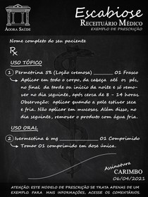 ESCABIOSE - EXEMPLO DE PRESCRIÇÃO