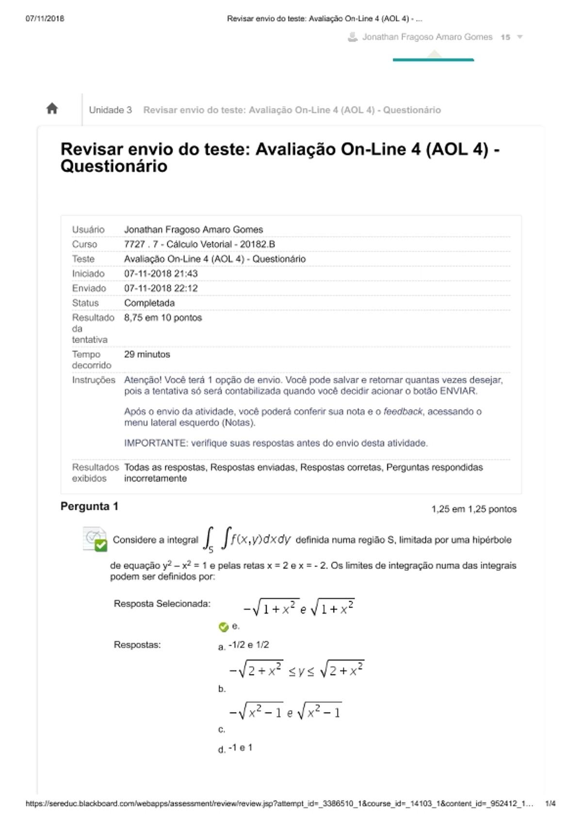 Pre-visualização do material AOL 4   CALCULO VETORIAL - página 1