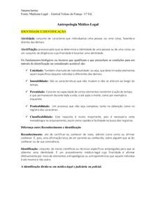 Resumo identidade e identificação (Livro - França)