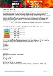 EXERCÍCIOS RESOLVIDOS DE ONDULATÓRIA NOS VESTIBULARES