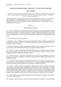 Legislação Portaria Interministerial 127 2008