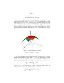 Notas de Aula - Cálculo 2 - aula12   Derivadas Parciais