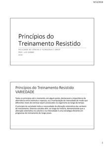 treinamento resistido - Periodização