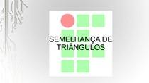 Semelhança de Triângulos e Teorema de Menelau