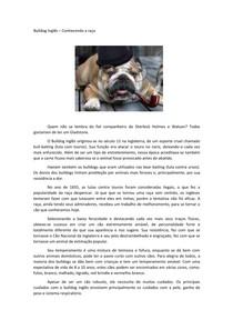 Conhecendo o bulldog inglês