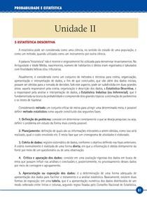 Probabilidade e Estatística   Unid II