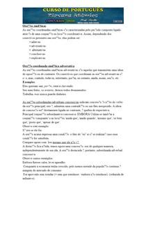 Oração Coordenada Sindética Adversativa e Oração Subordinada Adverbial Concessiva