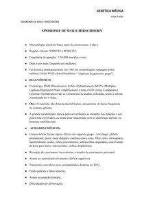 Síndrome de Wolf-Hirschhorn