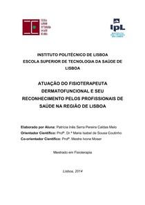 Atuação do fisioterapeuta dermatofuncional e seu reconhecimento pelos profissionais de saúde da região de Lisboa