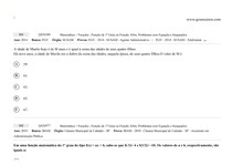 INEQUAÇÃO E FUNÇÕES DE 1º GRAU - PROVA 1