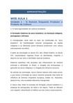 WEB AULA 1 - Unidade 1 - O Homem Enquanto Produtor e Produto da Cultura