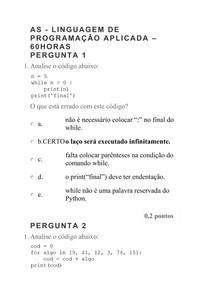 AS - LINGUAGEM DE PROGRAMAÇÃO APLICADA 60HORAS